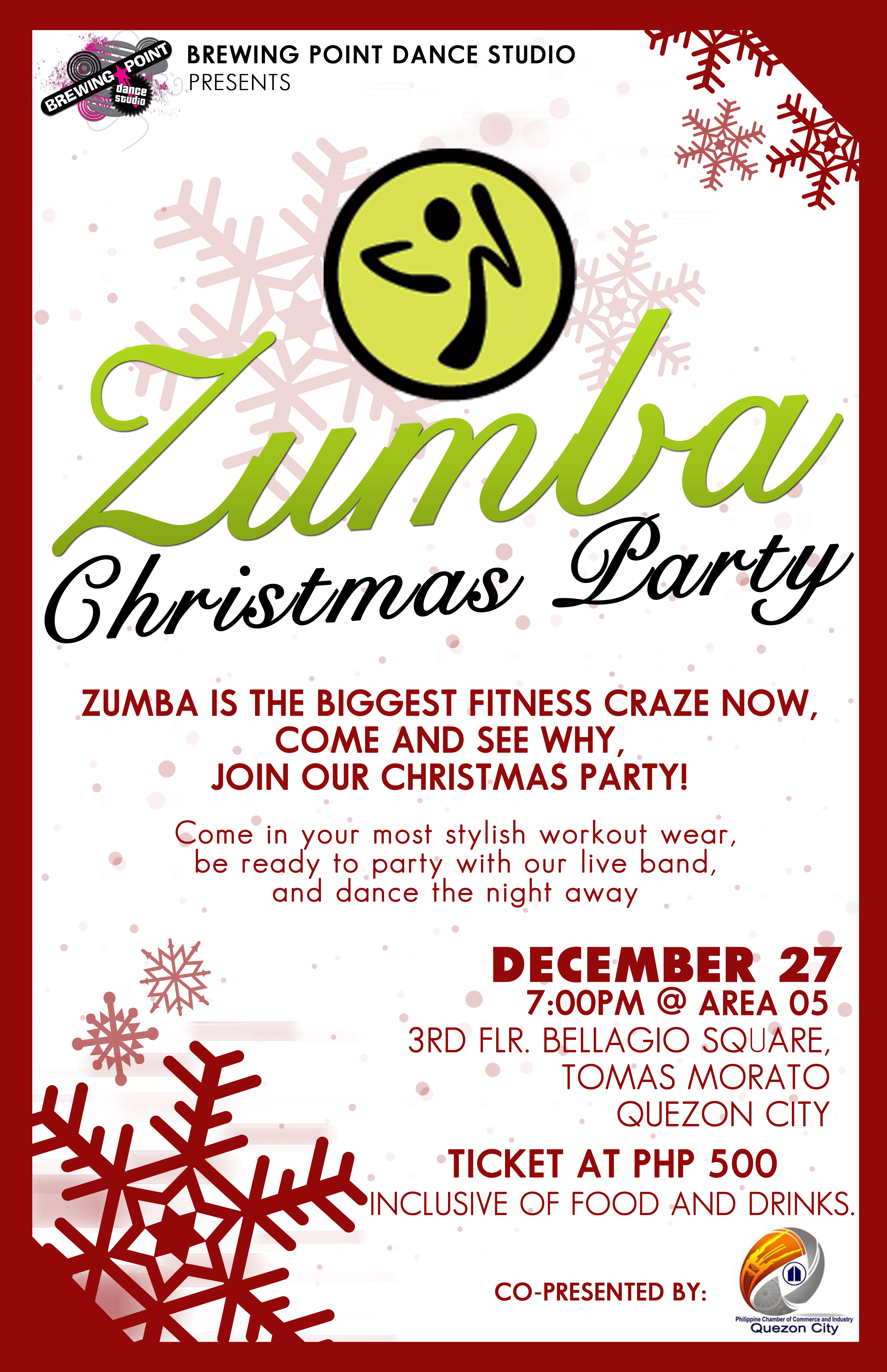 Rooftop Zumbathon and Zumba Christmas Party in the Club! | Kristie ...