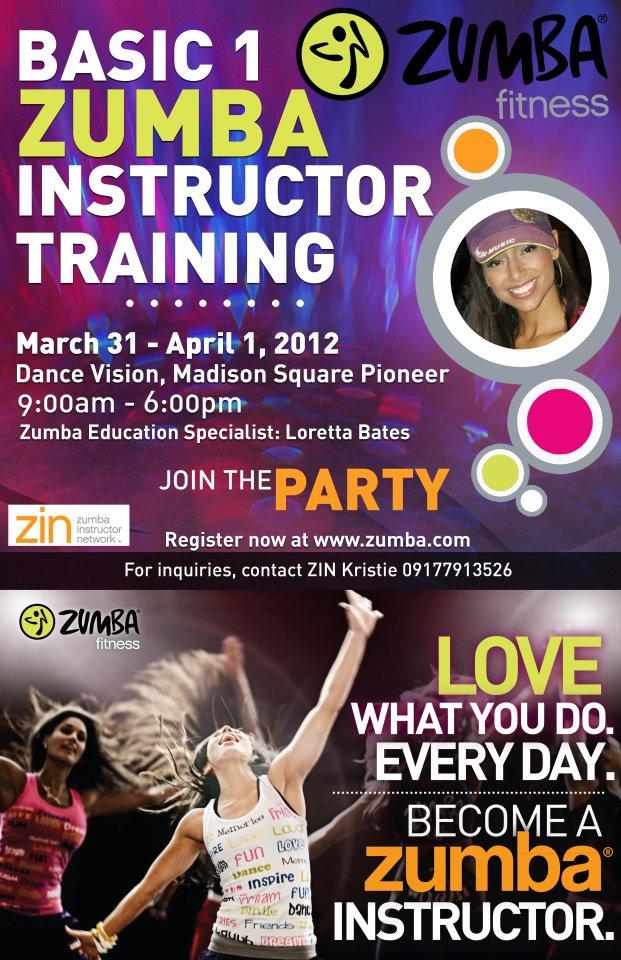 zumba instructor training | Kristie Bonifacio